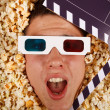 Young guy in the popcorn — 图库照片