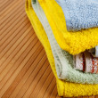 Towels stacked - Stock Photo