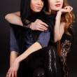 Стоковое фото: Two attractive girl friends