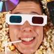 Young guy in the popcorn — Stock fotografie #18044383