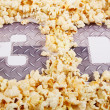 "Text ""3D"" in the popcorn — ストック写真"