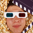 Young guy in the popcorn — Foto de Stock