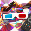 3d glasses on digital background — Stock Photo