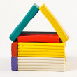 House out of plasticine — Stock Photo