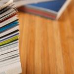 Pile of magazines — Stock Photo #18045247