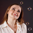 Stock Photo: Girl with Bubbles
