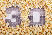 """Text """"3D"""" in the popcorn — Stock Photo"""