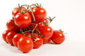 Close-up photo of tomatoes. Place for your text — Stock Photo