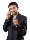 A smart young man successful in business — Stock Photo