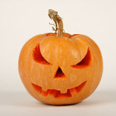 Orange halloween pumpkin on white background — Stock Photo