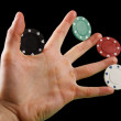 Colorful poker chips — Stockfoto
