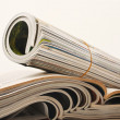 Rolled magazine — Stock Photo #20754469
