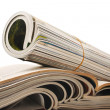 Foto de Stock  : Rolled magazine