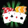 Poker Aces — Stock Vector