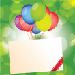 Stock Vector: Happy birthday card