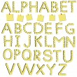 Alphabet letters out of paper for notes — 图库矢量图片