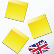 Stock Vector: Yellow sticky memo paper