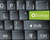 Black keyboard — Stock Vector
