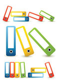 Many colored folders — Stock Vector