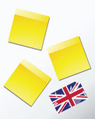 Yellow sticky memo paper — Stock Vector