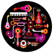 Musikinstrumente — Stockvektor