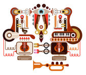 Musical laboratory — Stock Vector