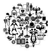 Social Media - vector illustration — Stock Vector