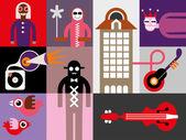 Müzik festivali afiş — Stok Vektör