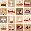 Royalty-Free Stock Vector Image: Travel and Transportation