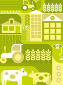 Farm - vector illustration — Stock Vector