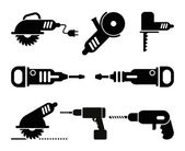 Electric Tools vector icon set — Stock Vector