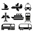 Transport icon set — Stock Vector #16219401