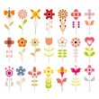 Flower vector icon set — Stock Vector