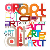 Art - text design — Stock Vector