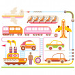 Travel & Transport - vector illustration — Stock Vector #40846191