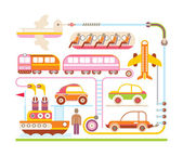 Travel & Transport - vector illustration — Stock Vector
