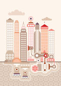 Cityscape — Stock Vector