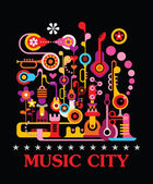 Music City — Stock Vector