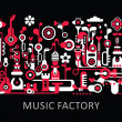 Music Factory — Stock Vector