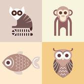 Animal vector icons — Stock Vector