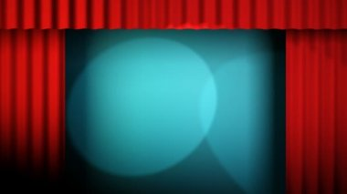Red curtains animation loop — Stock Video