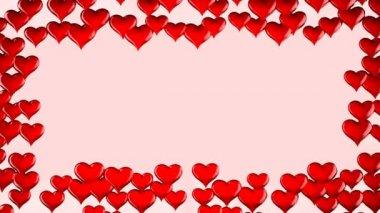 Red Heart shape frame — Stock Video