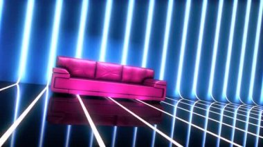 Club glamour interior with sofa — Stock Video