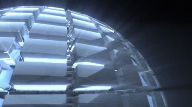 Glass sphere loop background — Stock Video