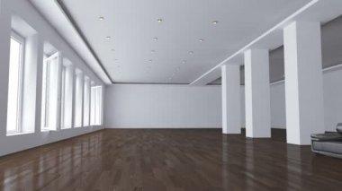 Flight through the empty Office — Stock Video
