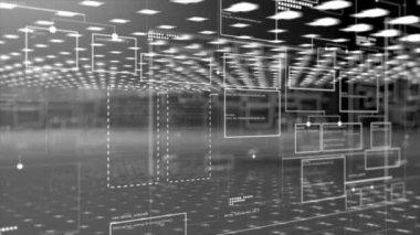 Computer code programm digital background — Stock Video