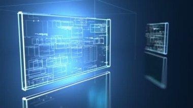 Computer code programm digital background — Stockvideo