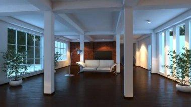 Modern interior — ストックビデオ