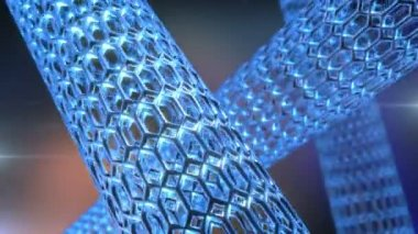 Nanotube rotate — Stock Video
