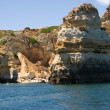 Rock formations near Lagos, Portugal — Stock Photo